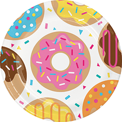 "Donut Time Paper Plates 9"" - 8PC-0"