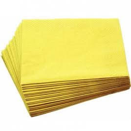 Yellow Paper Napkins - 20PC-0