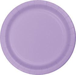 Luscious Lavender Paper Plates - 24PC-0