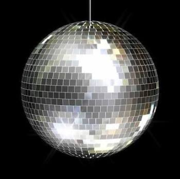 "16"" Mirror Disco Ball Silver -0"