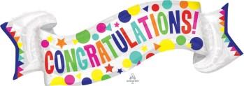 """Congratulations Banner Balloon 40"""" P35-0"""