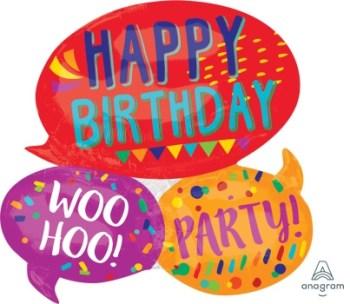 Happy Words SuperShape Balloons P35-0