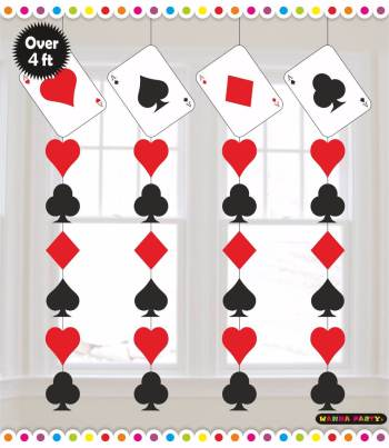 Card Party Hanging Decoration - 4PC-0