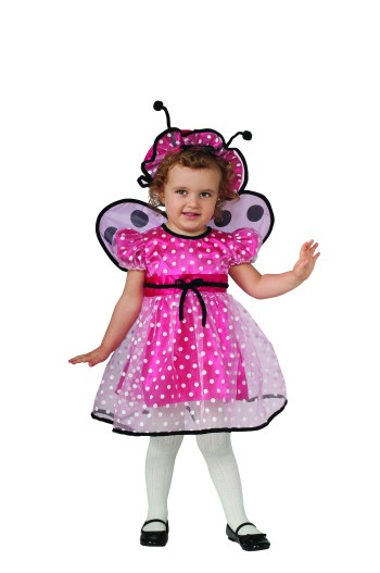 Toddlers Pink Lady Bug Costume-0
