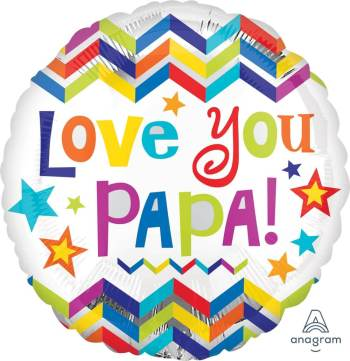 "Love You Papa Balloon 18"" S40-1PC-0"