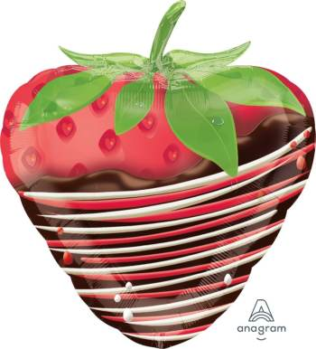 """18"""" Chocolate Dipper Strawberry Balloons S50-0"""