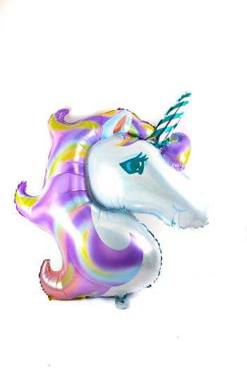 "Balloon on Stick Unicorn 14""-0"