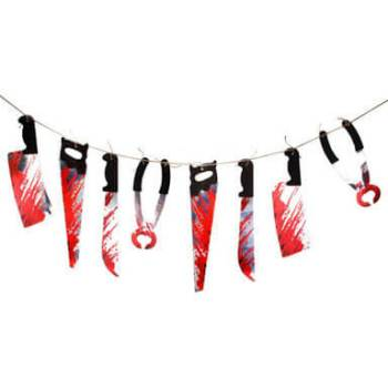 Halloween Weapons Hanging Banner - 9FT-0