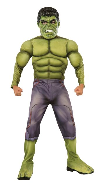 Kids Deluxe Muscle Chest Hulk Costume Large-0