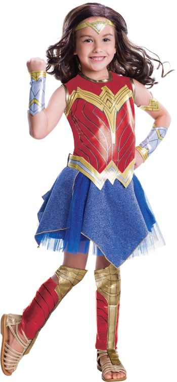 Kids Deluxe Wonder Woman Justice League Costume Medium-0