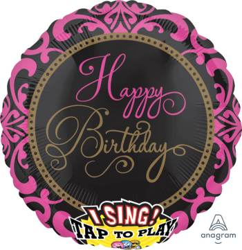 "Fabulous Birthday Singing Balloon 28"" P60-0"