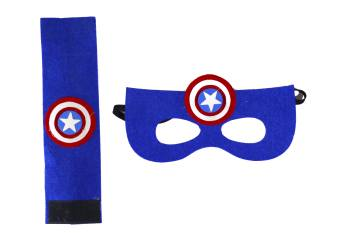 Captain American Eye Mask & Wrsit Band Set-0