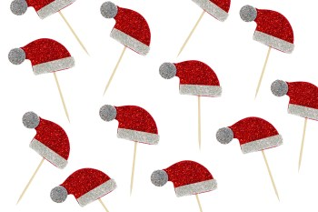 Christmas Santa Hat Toothpicks - 10PC-0