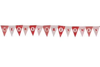 Merry Christmas Bunting Banner - 6FT-0
