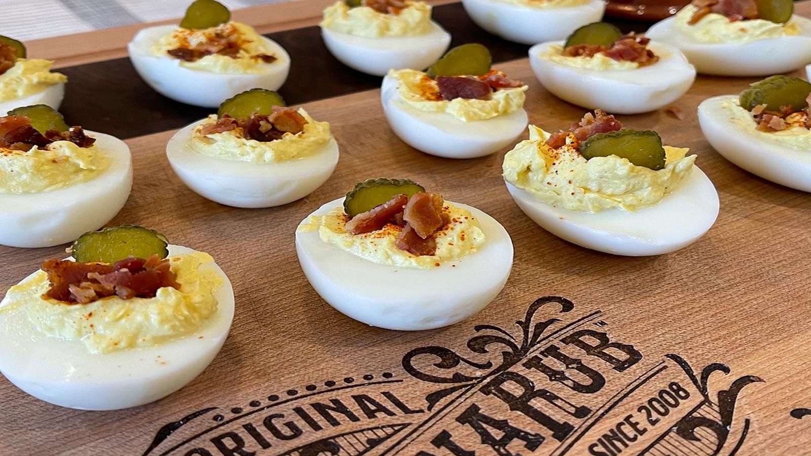 WannaRub Deviled Eggs