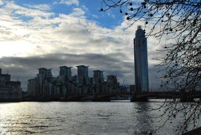 skyline bij Vauxhall bridge