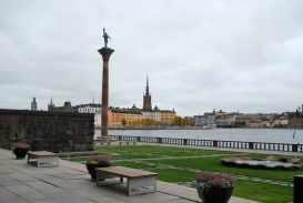 prachtig aan het water gelegen, de tuin van het Stadhuset