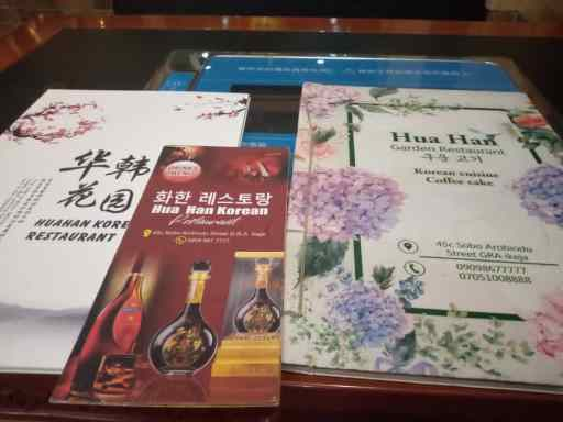HUA HAN KOREAN RESTAURANT LAGOS MENU