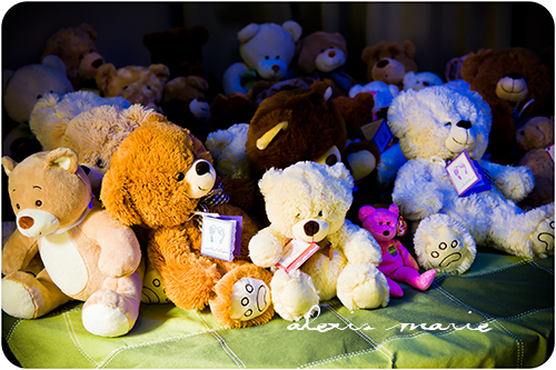 Donate a teddy bear to support other bereaved parents.  Photograph copyright Alexis Marie Chute