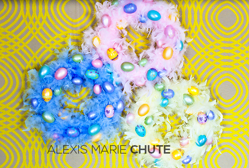 Easter Egg Wreath photo copyright Alexis Marie Chute Wanted Chosen Planned