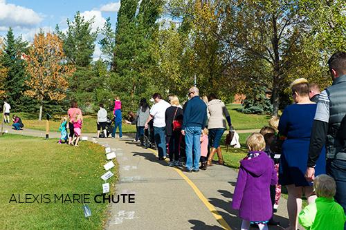 Baby Steps Memorial Walk chalk names 2014 Alexis Marie Chute public speaker baby loss walk