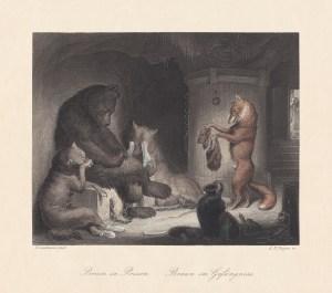 Bruin in Prison. Scene from
