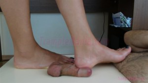 Crystal's Bare Feet Cock Trampling