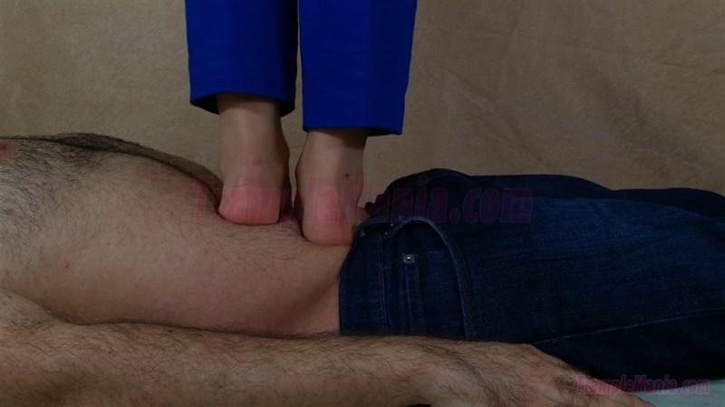 Carmen's Barefoot POV Stomach Trampling Video