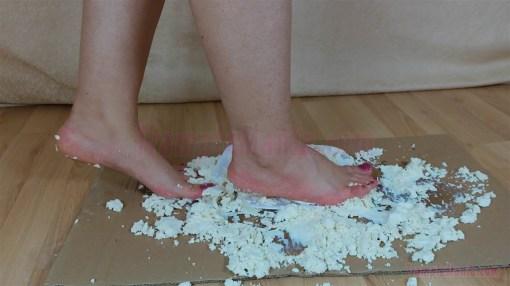 Elisa's Barefoot Cheese Crushing