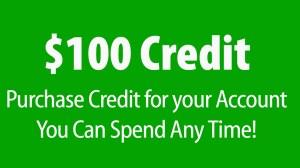 $100 Credit