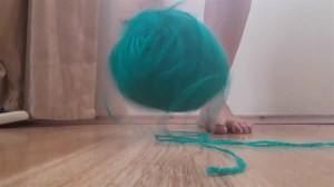 Goddess Gina Crushes a Ball of Wool under her High Arches