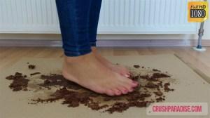 Rachel's Bare Feet Cake Smashing