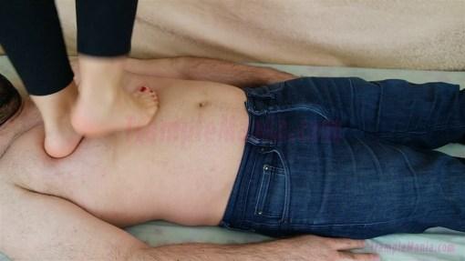 Caroline's First Time Barefoot Trampling