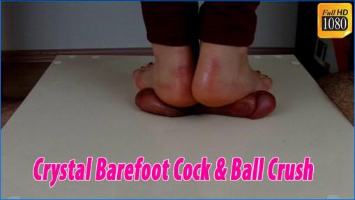 Crystal Barefoot Cock & Ball Crush