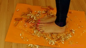 Crystal Crushes Hard Biscuits under her Bare Feet Alt