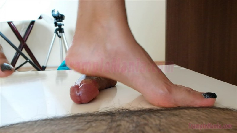 Crystal Crushes Her Slave's Cock
