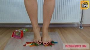 Tiffany's Bare Feet Worm Jelly Candy Crush