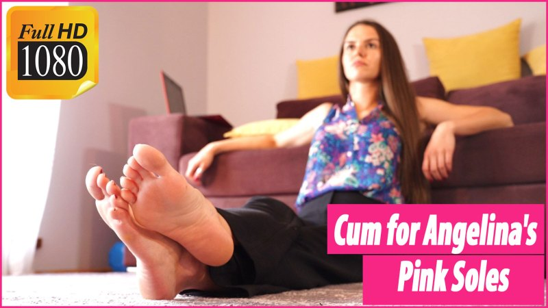 Cum for Angelinas Pink Soles