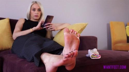 Perfect Feet in White Nylon Socks
