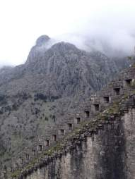 Wall of Kotor's fortress