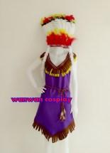 ชุดโบฮีเมี่ยน ชุดอินเดียแดง ชุดคนป่า ให้เช่าราคาถูก 094-920-9400