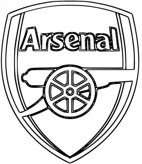Arsenal Logo Kleurplaat