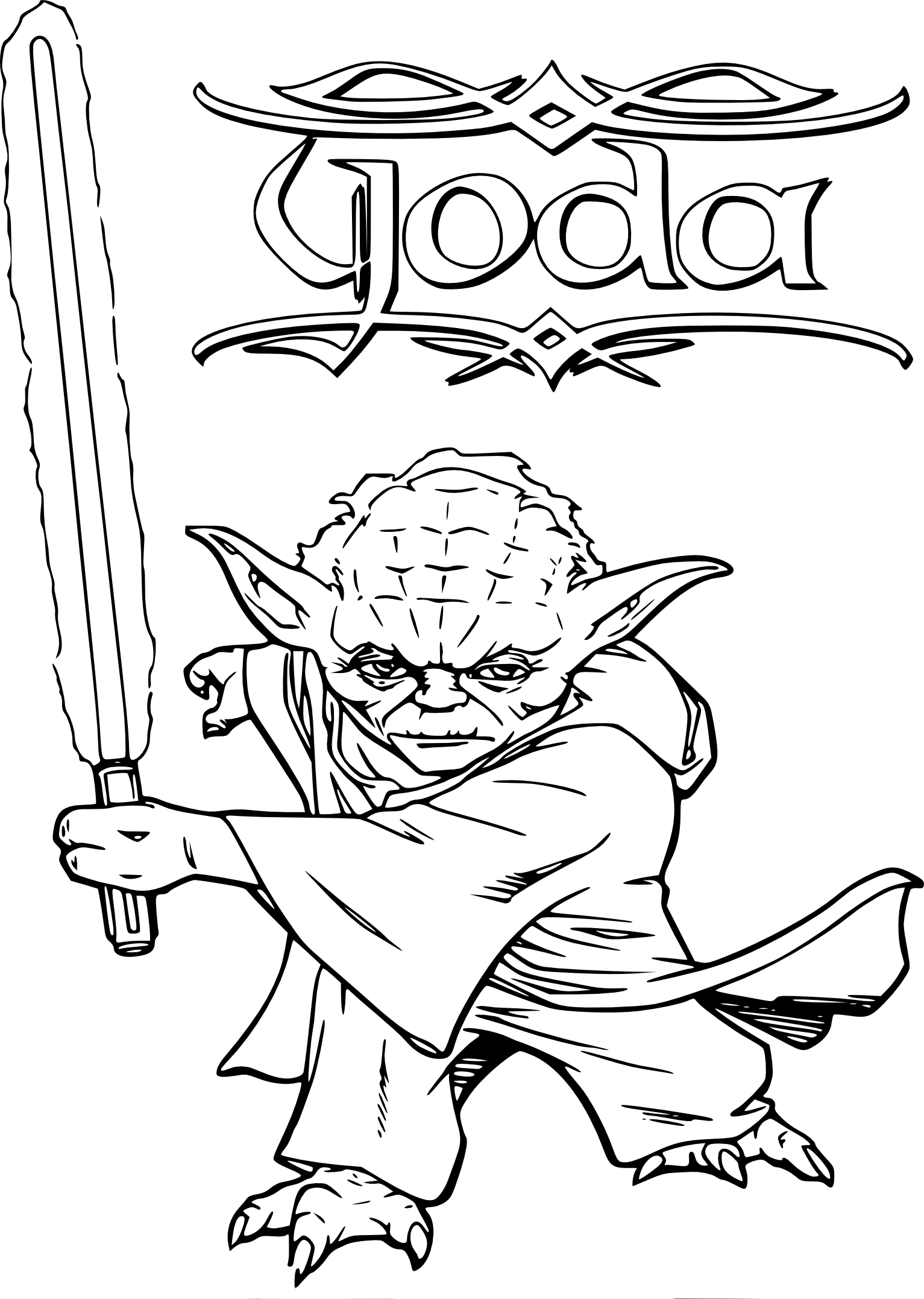 yoda christmas coloring page | step 10 how to draw yoda hand and