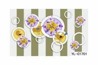 Flower Print Bubble Wall Art: Buy Wall Art on Wao Wallpaper