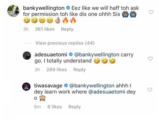 Tiwa savage and banky w - tweet
