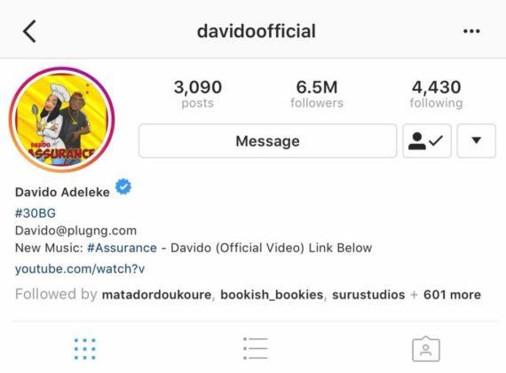 Davido Instagram