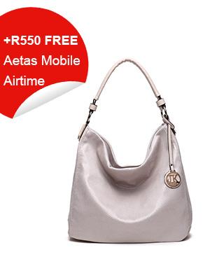 Fancy White Ladies Hobo Bag