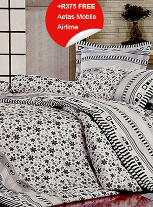 Queen Bedding Black And White Set