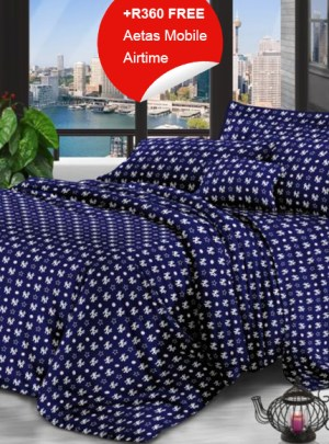 Queen Bedding Dark Blue Set