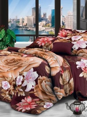 Queen Bedding Rose Set